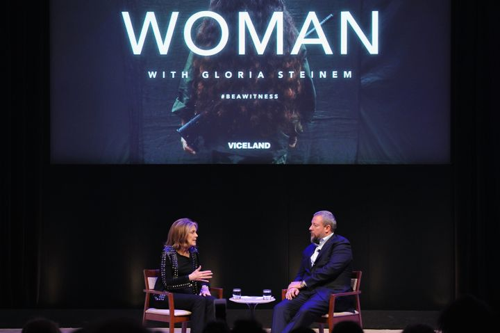 """Steinem and Vice co-founder Shane Smith discussed """"WOMAN"""" after the premiere on Wednesday night."""