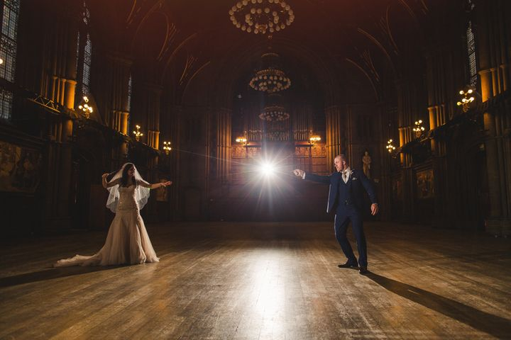 """Cassie and Lewis Byrom take their """"Harry Potter""""-themed wedding to magical levels."""