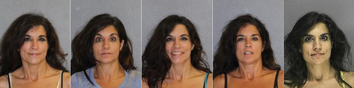 Linda Hadad, whose mugshots for five arrests appear above, had sex with clients, the Florida Bar says.