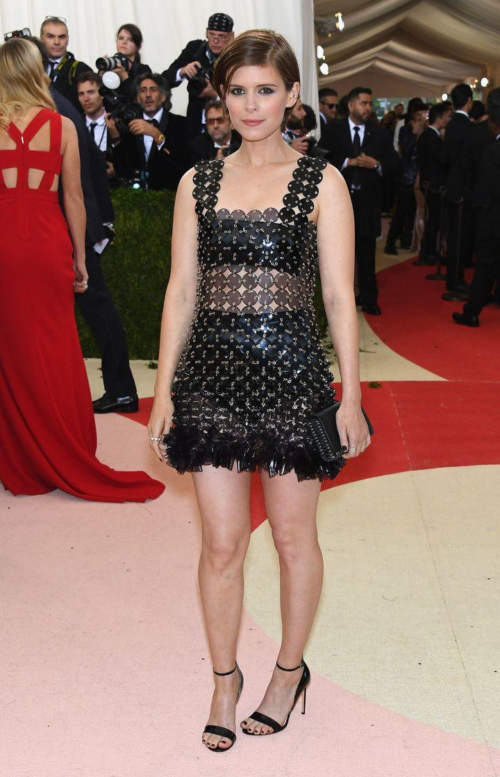 Kate Mara on the Met Gala red carpet.