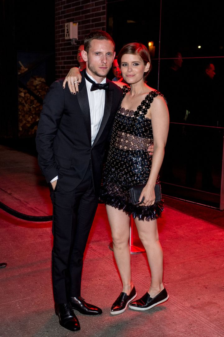 Kate Mara and Jamie Bell arriving to the Met Gala after party.