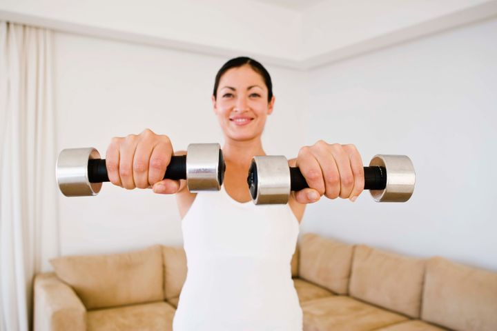 Many apps will show you how to work out at home.