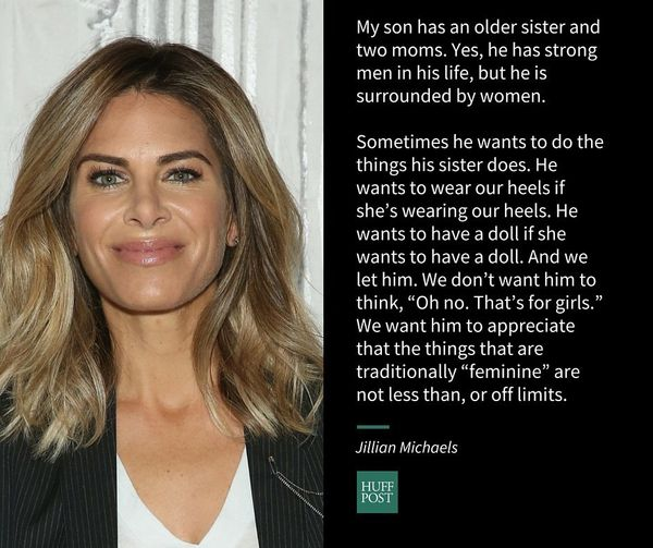 It's most important to lead by example and show my son that women are just as strong, just as smart, just as capable. M