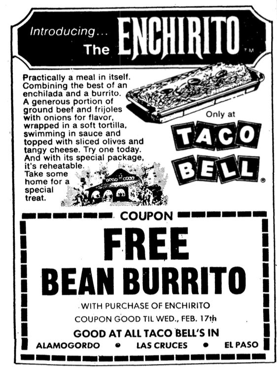 Texas newspaper ad, 1971