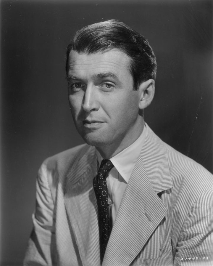 James Stewart wore a seersucker suit in his headshot in 1950.