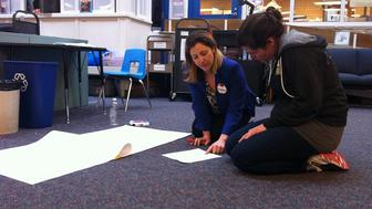 Teachers in training prepare a lesson for Studio Day, part of Seattle Teacher Residency's intensive 14-month-long program.