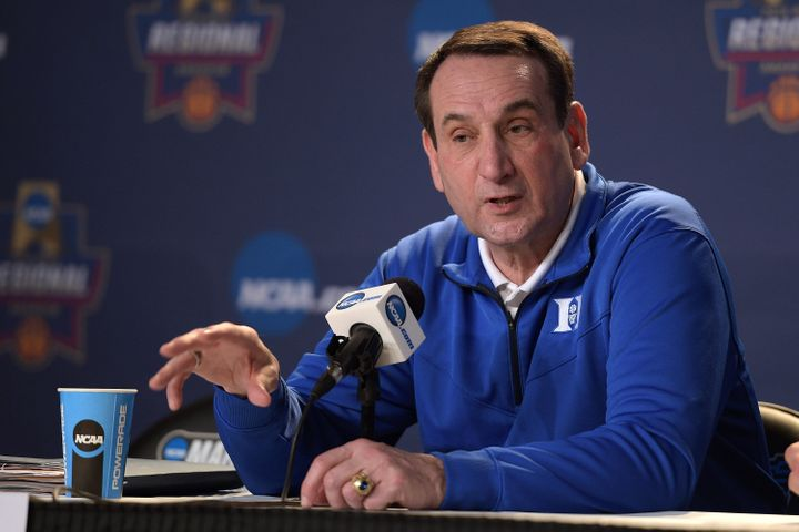 Bet you never noticed that West Point ring on Coach K's hand.