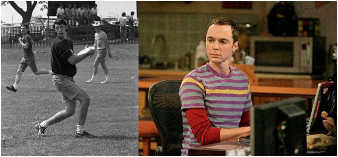 Irv Kalb (left) fictional TV Nerd (right); uncanny resemblence