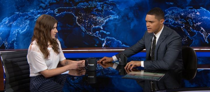 """Bethany Cosentino stopped by """"The Daily Show"""" to speak with Trevor Noah about sexual assault in the music industry."""