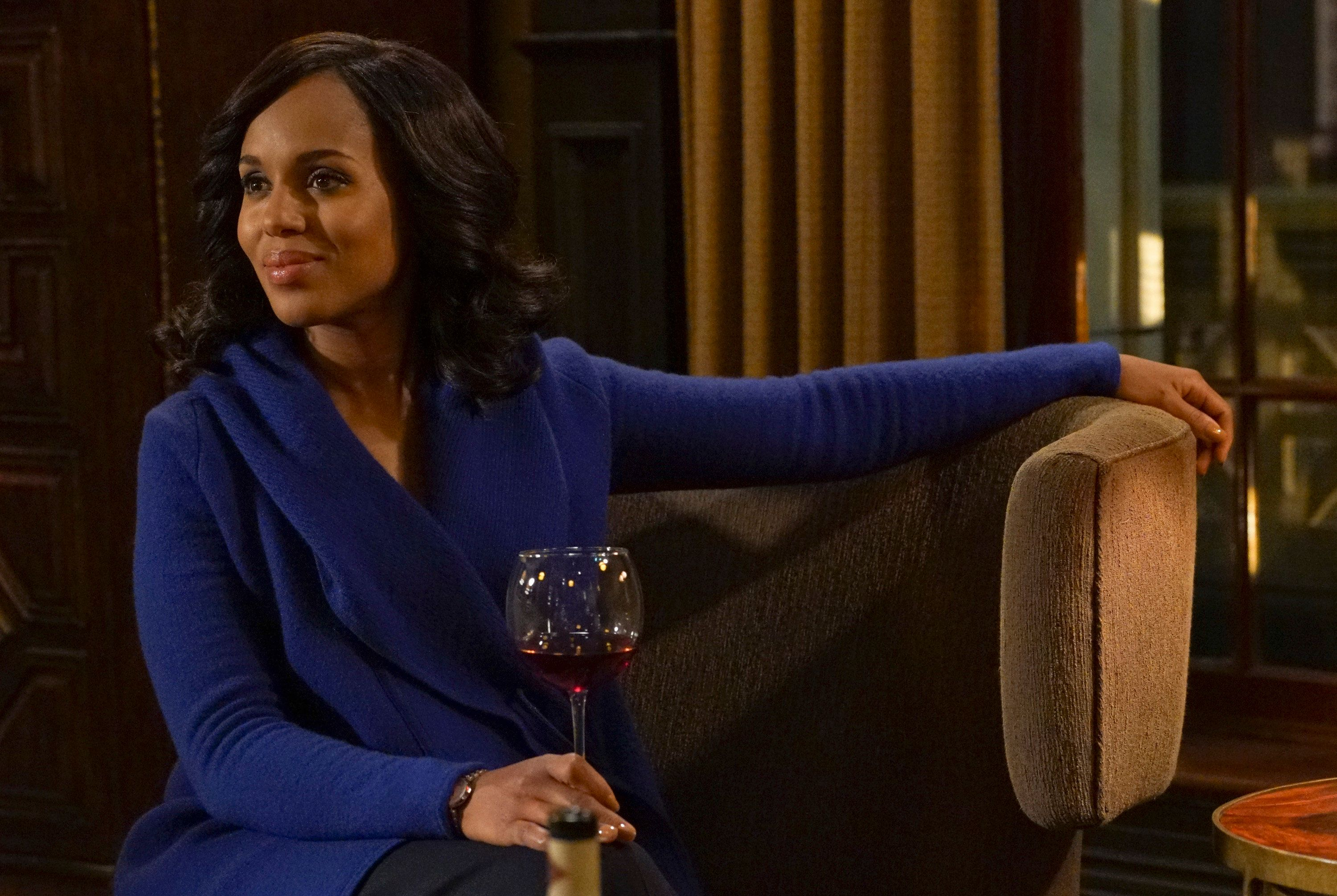 SCANDAL - 'Trump Card' - Olivia and Abby have to put their differences aside and work together to try and take Hollis Doyle down.  Meanwhile, Edison realizes he may have made a deal with the devil as Rowan and Jake continue to try and pull the strings behind his campaign, on the penultimate episode of ABC's 'Scandal,' THURSDAY, MAY 5 (9:00-10:00 p.m. EDT), on the ABC Television Network. (Photo by Byron Cohen/ABC via Getty Images) KERRY WASHINGTON