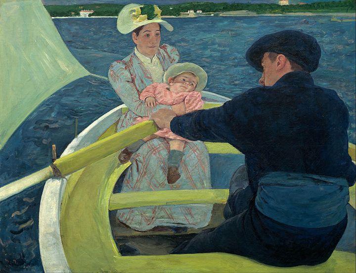 """Mary Cassatt, """"The Boating Party,"""" 1893-94"""