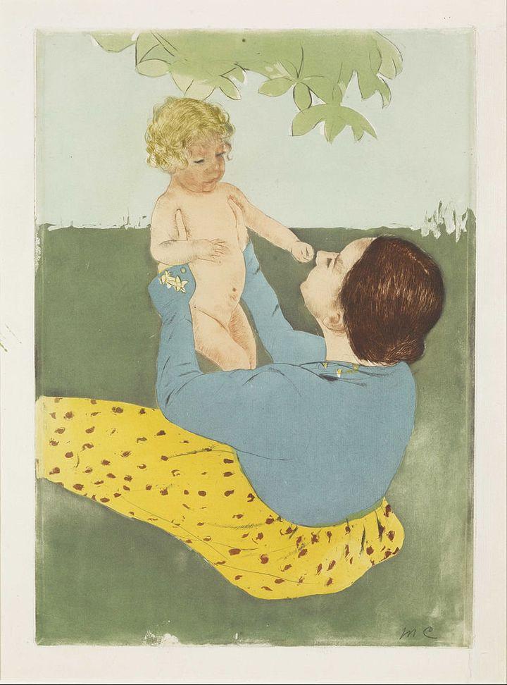 """Mary Cassatt, """"Under the Horse-Chestnut Tree,"""" 1896-97"""