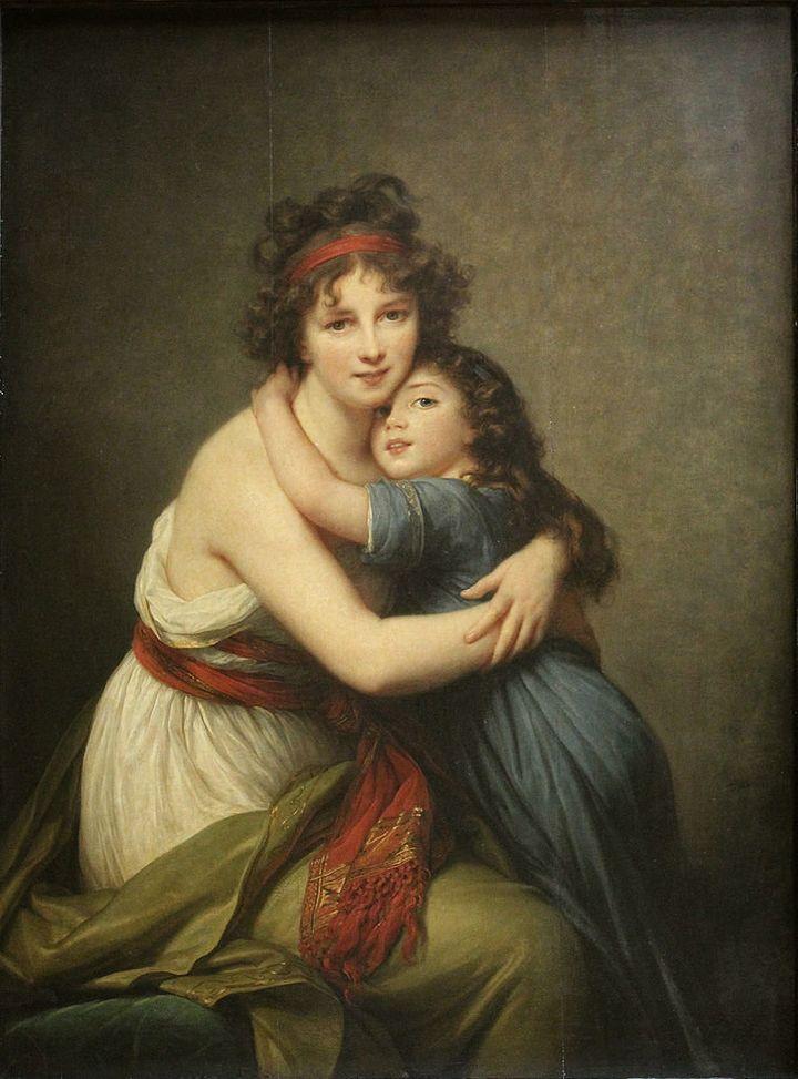 """Élisabeth Louise Vigée Le Brun, """"Self-portrait with daughter,"""" 1789"""