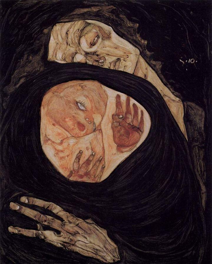 """Egon Schiele, """"Tote Mutter,""""1910"""