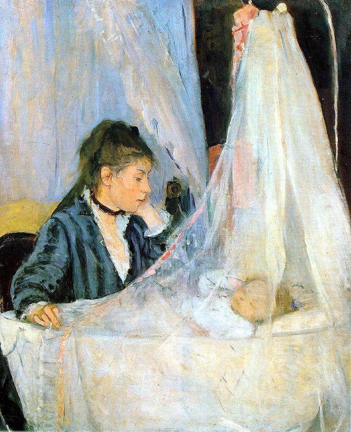 "Berthe Morisot, ""The Cradle,"" 1872"