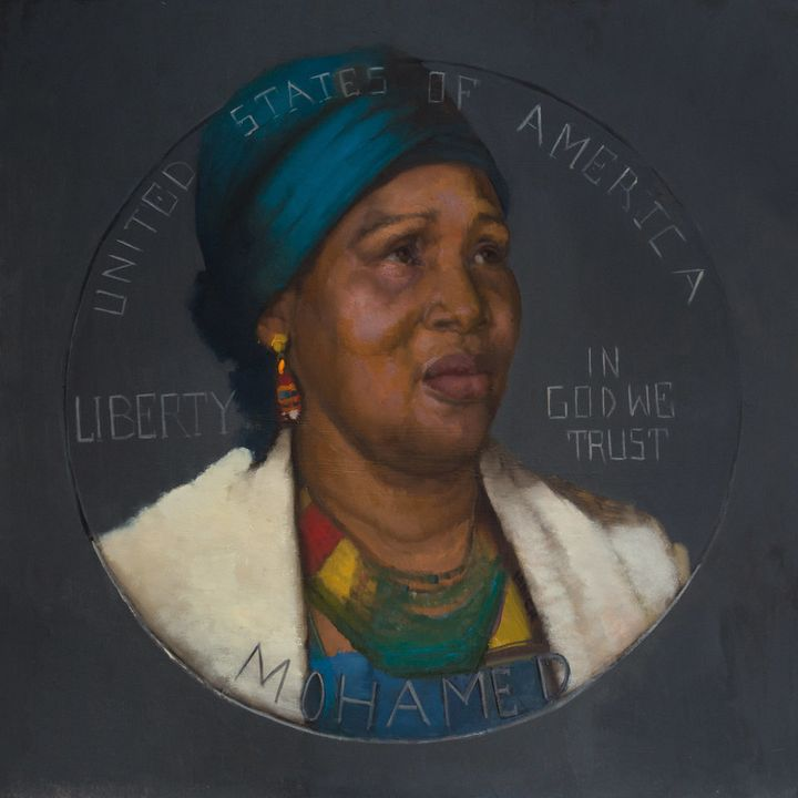 Sylvia Maier's portrait of Hawa Bah, mother of Mohamed Bah, who was shot and killed by New York City police on September 25,