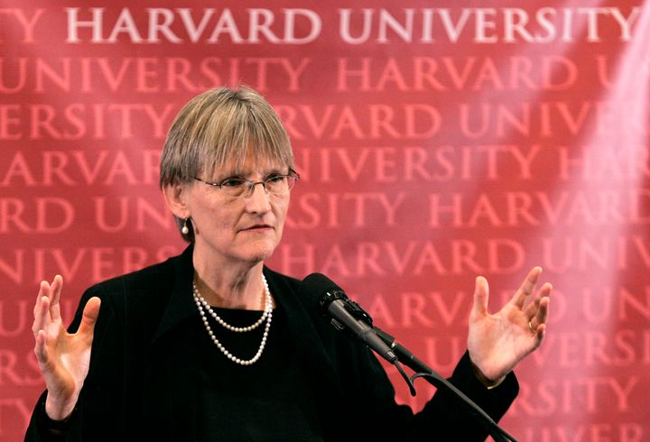 Harvard University will sanction students who join unrecognized single-gender clubs, President Drew Faust said Friday.