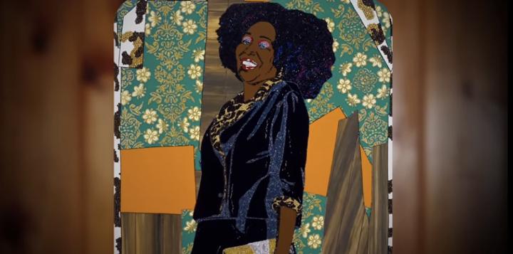 "Mickalene Thomas, from""Happy Birthday to a Beautiful Woman"" [Thomas' mother], 2014"