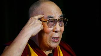 Tibetan spiritual leader, the Dalai Lama speaks during a news conference at Magdalene College in Oxford, Britain September 14, 2015.  REUTERS/Darren Staples