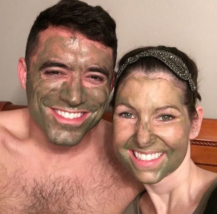 Matt Sanders would do anything to make his wife Libby smile, from painting his nails to doing face masks.