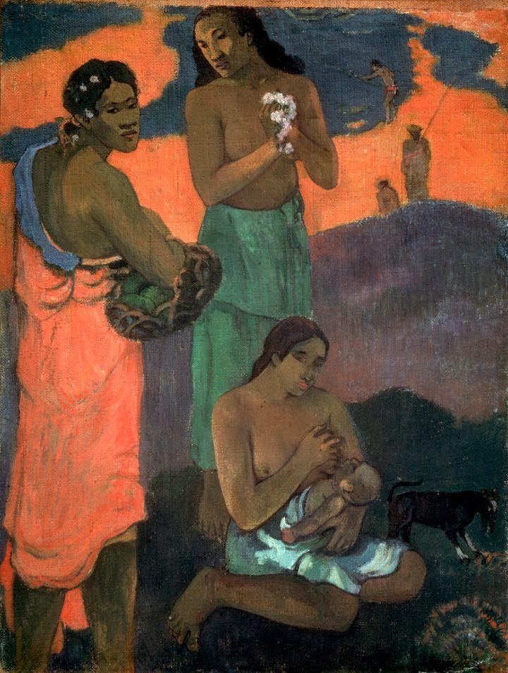 """Paul Gauguin, """"Women on the Seashore (The Motherhood),"""" 1899"""