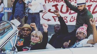 Five protesters on a hunger strike, known as the Frisco 5, were all hospitalized on May, 6, 2016, their 16th day without solid food.