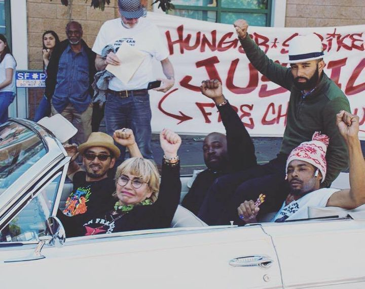Five protesters on a hunger strike, known as the Frisco 5, were all hospitalized on Friday, their 16th day without solid