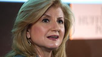 "Arianna Huffington, president and Editor-in-Chief of The Huffington Post Media Group, attend a news conference for the launching of  ""Le Huffington Post"" in Paris January 23, 2012.  REUTERS/Charles Platiau  (FRANCE - Tags: MEDIA BUSINESS HEADSHOT)"
