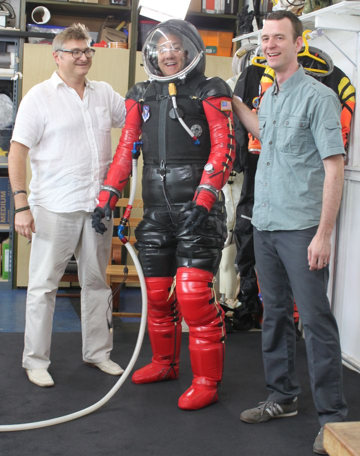 Ted Southern blends his costume design know-how with Nikolay Moiseev's spacesuit construction background to create award-winn