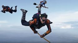 Badass Skydivers Show You Don't Need Magic To Play