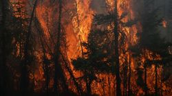 Residents Flee As Raging Canada Wildfire