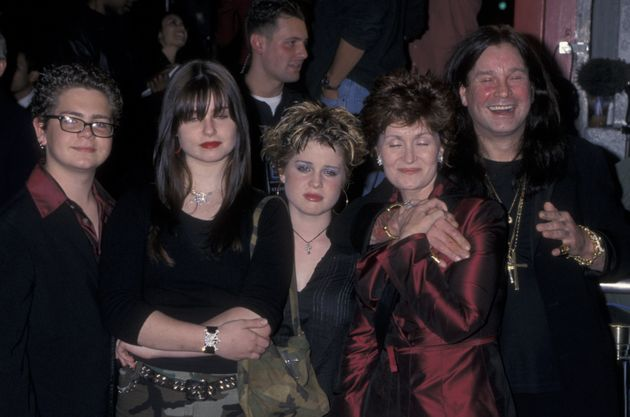 Sharon and Ozzy with their three children, Jack, Aimee and Kelly, in