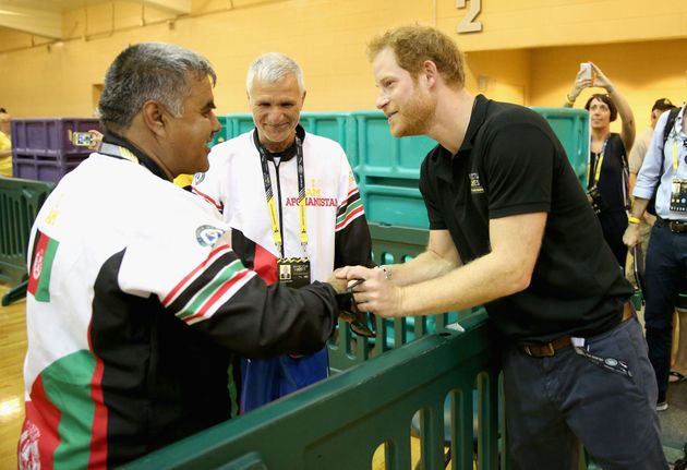 Prince Harry meets members of the Afghanistan Team at Invictus