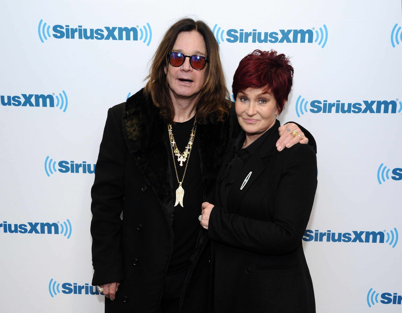 NEW YORK, NY - DECEMBER 11:  Ozzy Osbourne and Sharon Osbourne visit the SiriusXM Studios on December 11, 2014 in New York City.  (Photo by Ilya S. Savenok/Getty Images)