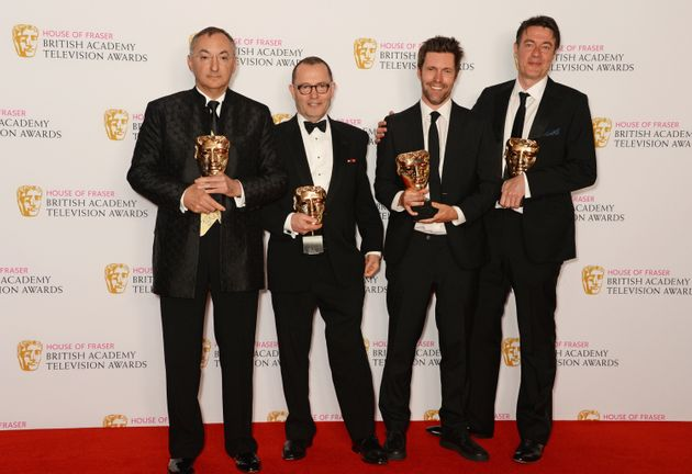 The 'Wolf Hall' team photographed after their