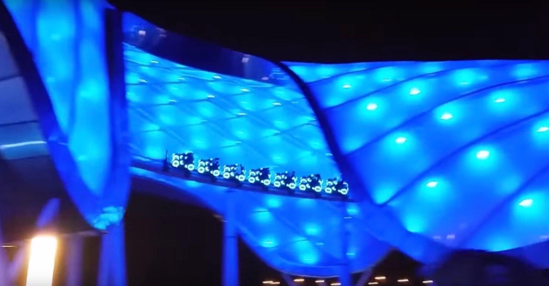 Tron Lightcycle Power Run at Shanghai Disneyland.