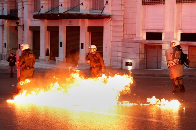 Clashes between protesters and police turned violent over the
