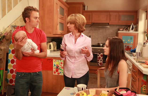 In character as Gail, with her soap