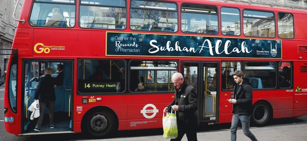 'Praise Allah' Advert On Buses In England Aimed At Helping Syrian Victims
