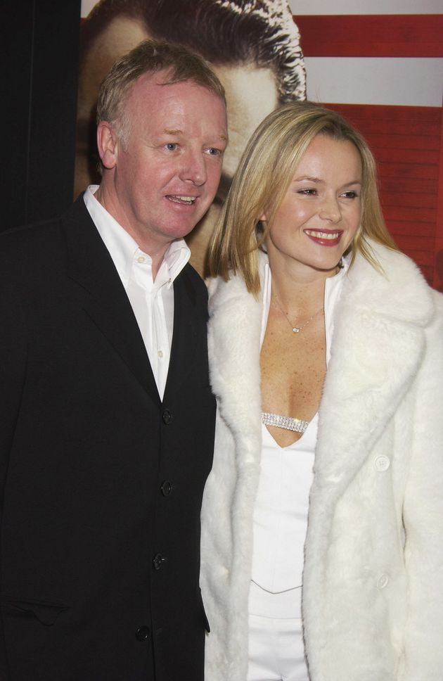 Amanda Holden and Les Dennis in