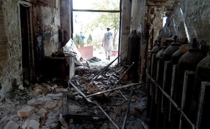 The Kunduz hospital shown here was operated by Medecins Sans Frontieres and destroyed in an air stri