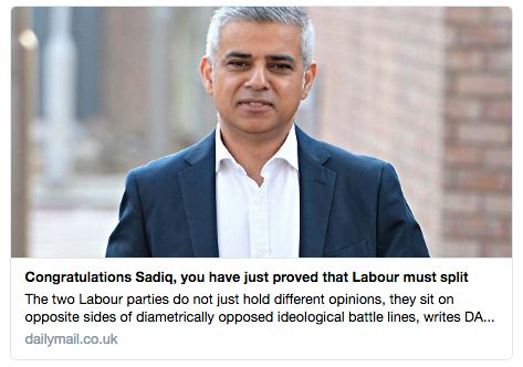 Sadiq Khan Publicly Congratulated By William Shatner And Hillary Clinton, And Now Finally David