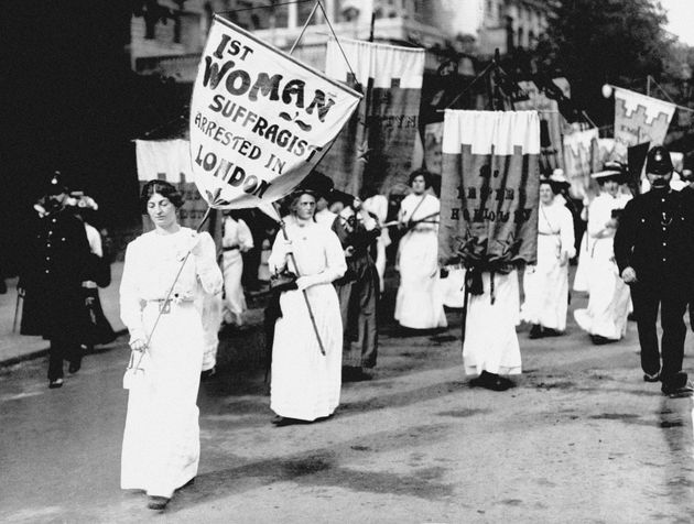 Suffragettes in action in