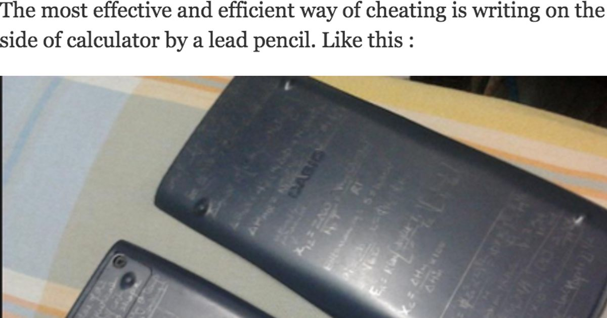 How To Cheat On Exams Quora Reveals Seriously Creative Ideas