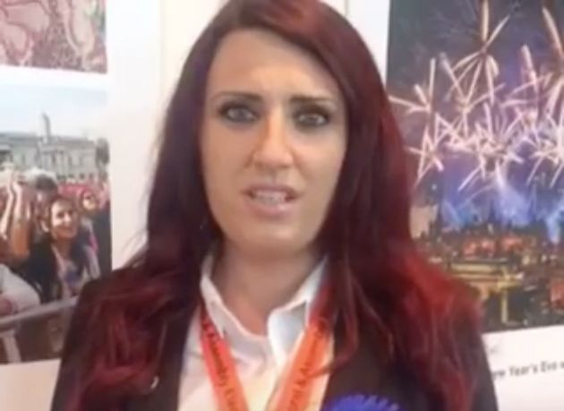 Teary-eyed: Britain First Deputy Leader Jayda Fransen in the Facebook
