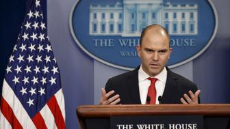 U.S. Deputy National Security Advisor Ben Rhodes speaks about Obama's upcoming visit to Cuba at the White House in Washington February 18, 2016.  U.S. President Barack Obama on Thursday announced a historic visit to Cuba next month, speeding up the thaw in relations between the two Cold War former foes but igniting opposition from Republicans at home.REUTERS/Kevin Lamarque