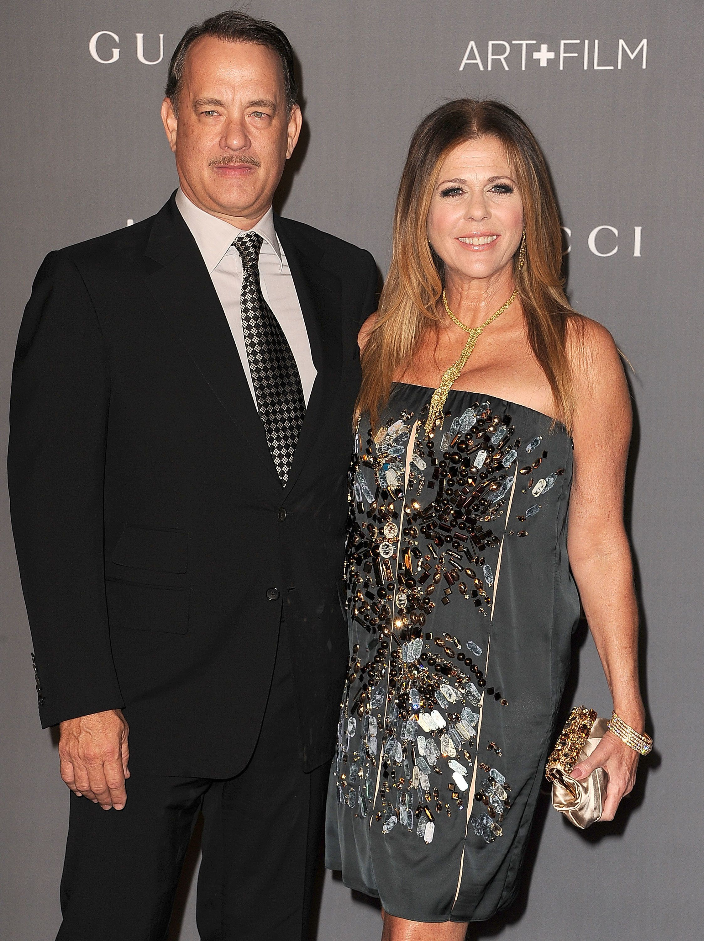 LOS ANGELES, CA - OCTOBER 27:  Tom Hanks and Rita Wilson arrives at the LACMA Art + Gala at LACMA on October 27, 2012 in Los Angeles, California.  (Photo by Steve Granitz/WireImage)