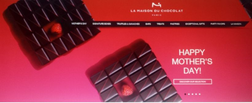La Maison Du Chocolate Mother's Day Gift Box features a selection of 7 of its iconic chocolates, as well as a new creati