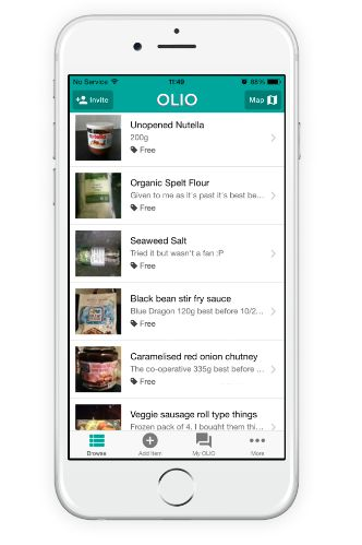 OLIO allows people to advertise leftover food that might otherwise go to