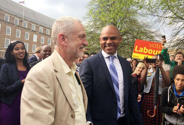 Corbyn with new Bristol Mayor Marvin